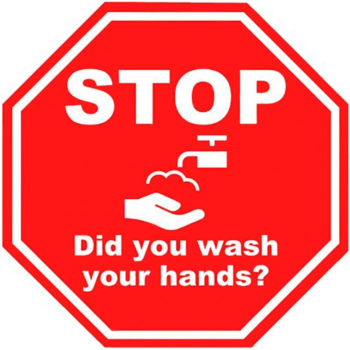 09-83-7571 Stop Did you wash your hands sinage-2