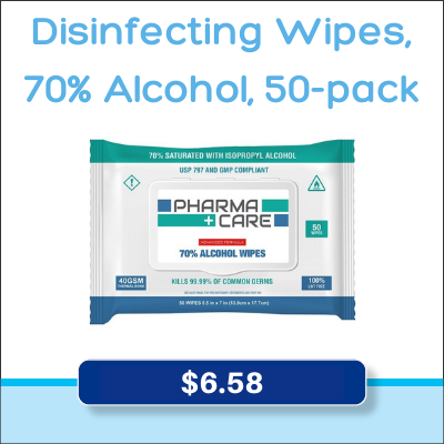Disinfecting Wipes 70% Alcohol 50-pack